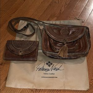 Patricia Nash tooled leather purse/wallet set.